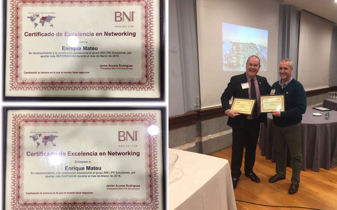 Mateu premiado de nuevo por Excelencia en Networking